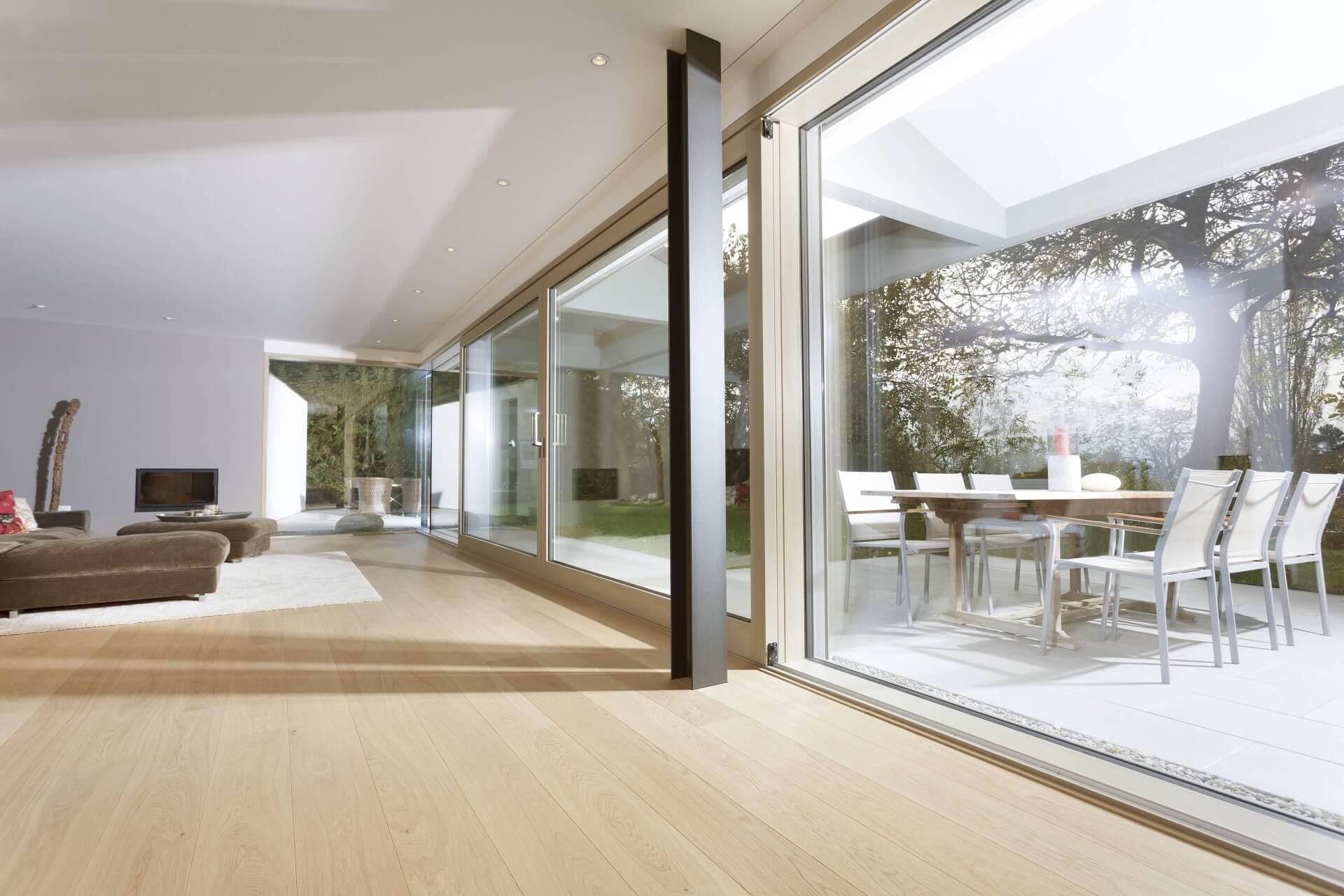 FineLine Fassadensystem UNILUX Holz-Aluminium